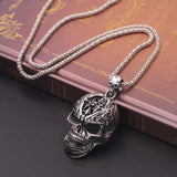 Angry Warrior Skull Necklace