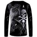 Black Skull Long Sleeve Shirt