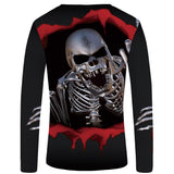 3D Long Sleeve Skull Shirt