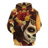 Day Of The Dead Skull Hoodie Women