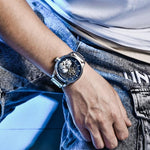 Mens Skull Auto Mechanical Watch