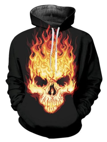 Flaming Skull Hoodies