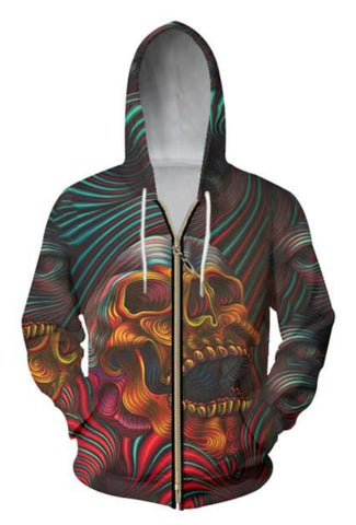 Graphic Skull Hoodies For men