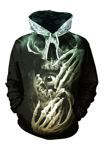 Skull Glow In The Dark Hoodie For men