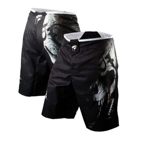 Black Skull Board Shorts