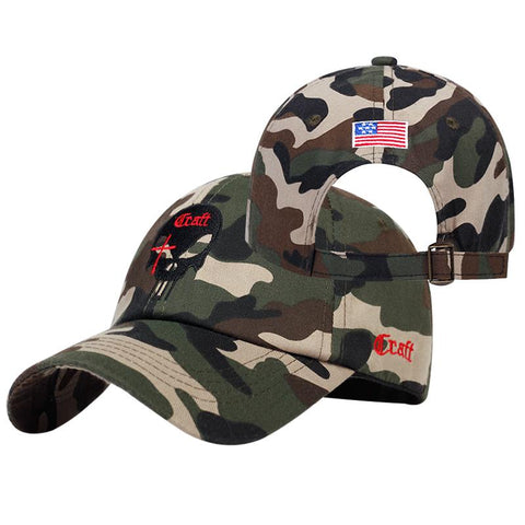 punisher american flag hat