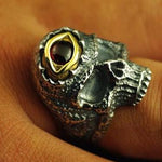 Pure Silver Skull Ring | Skull Action