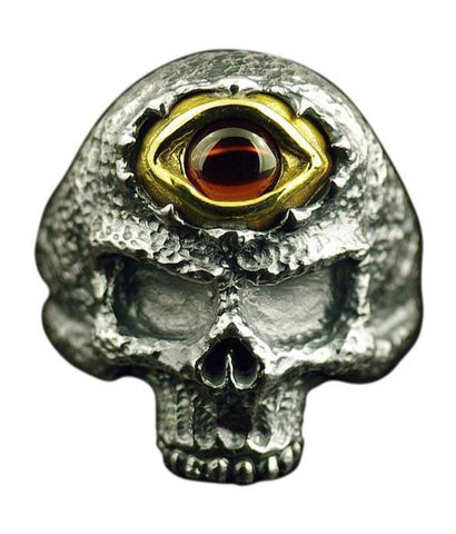 Pure Silver Skull Ring