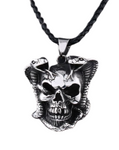 Real Snake Skull Necklace