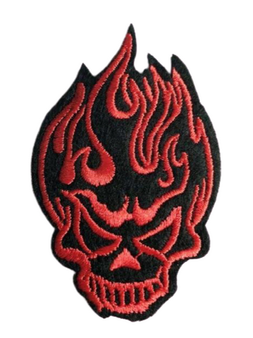 Red And Black Military Patches