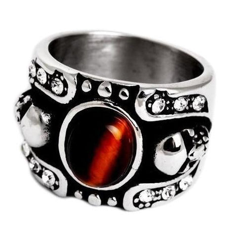 red bloodstone ring
