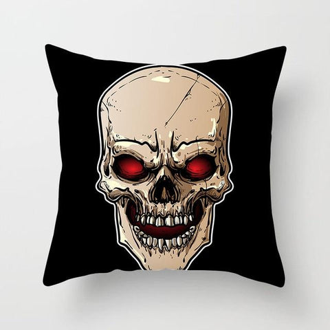 Red Eye Skull Pillow