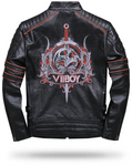 Red Skull Leather Jacket