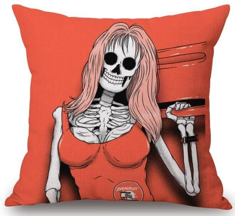 Red Skull Pillow