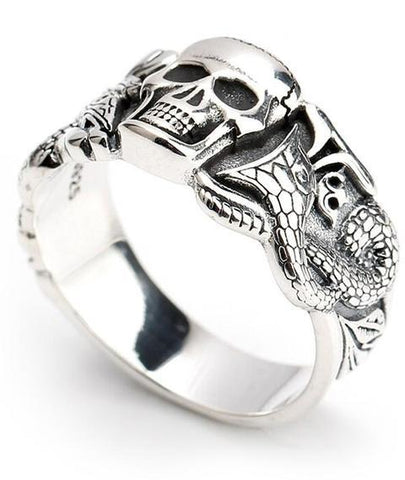 serpent ring silver