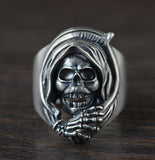 Silver Grim Reaper Ring | Skull Action
