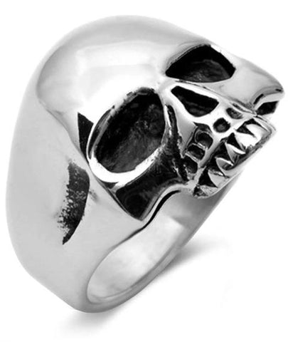 Keith Richards Skull Ring Sterling Silver