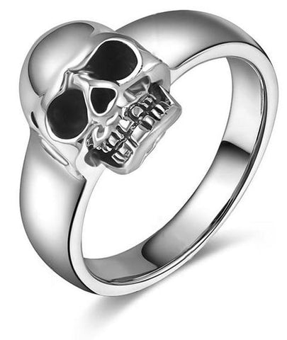 silver skull ring for sale