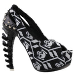 Skeleton Black Heels | Skull Action