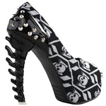 Skeleton Black Heels