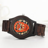 Skeleton Face Wood Watch | Skull Action