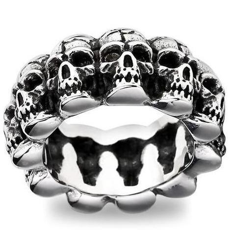 skeleton head ring