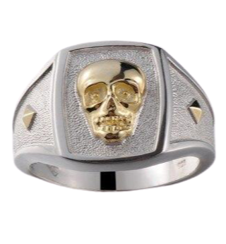 skeleton ring silver