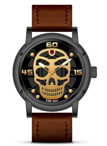 Skeleton Watch Brown Leather
