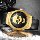 Skeleton Watch Gold And Black | Skull Action