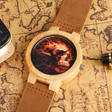Skeleton Watch Leather Strap | Skull Action