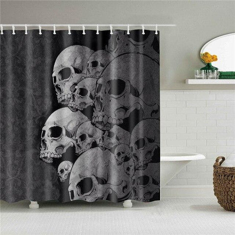 Skull And Bones Shower Curtain