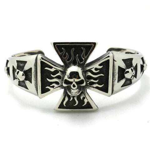 Skull And Cross Bracelet