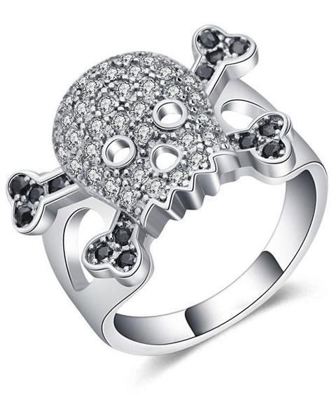 Skull And Crossbones Wedding Ring Skull Action