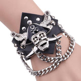 Skull And Leather Bracelet | Skull Action