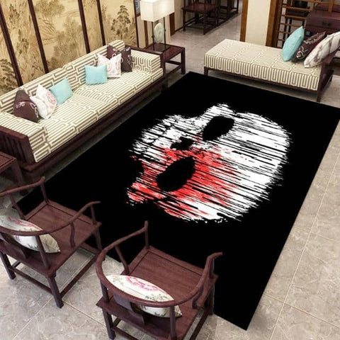 Skull Carpet Black