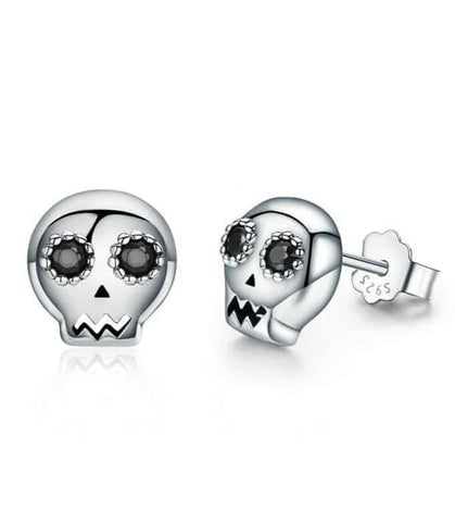 Skull Earrings Girly