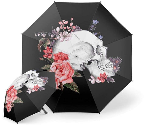 Skull Flowers Umbrella