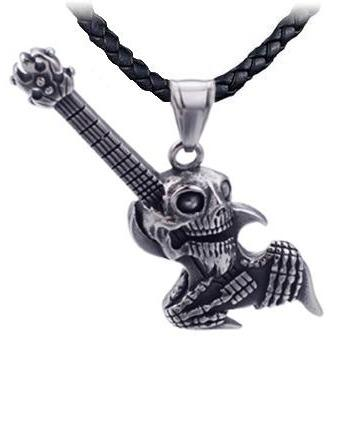 Skull Guitar Necklace