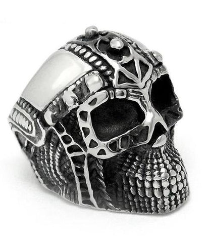 skull head ring mens