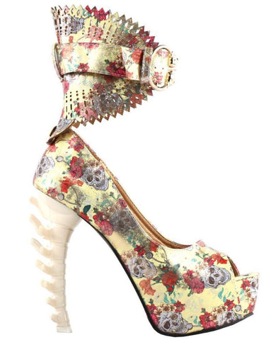 Skull Heels For Wedding