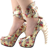 Skull Heels For Wedding | Skull Action