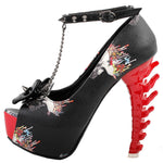 Skull High Heel Shoes | Skull Action