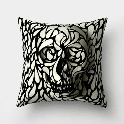 Skull Illusion Pillow