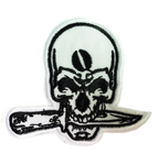 Skull Knife Patch