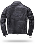Skull Leather Jacket Motorcycle