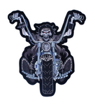 Skull Motorcycle Patch