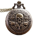 skull pocket watch antique