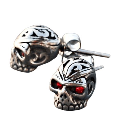 Skull Red Earrings