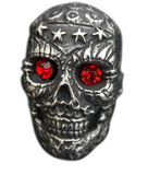 skull ring red eyes for sale