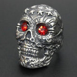 Skull Ring Red Eyes For Sale | Skull Action